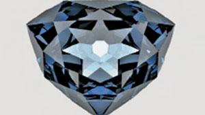 「フレンチブルー」ダイヤモンドのコンピューターレンダリング