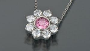 0.45 克拉粉红色 CVD 合成钻石