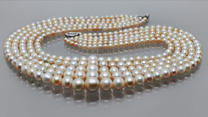 Five-strand Natural Pearl Necklace