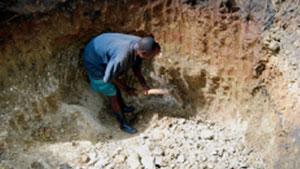 蒙特普埃兹的矿工正在采矿