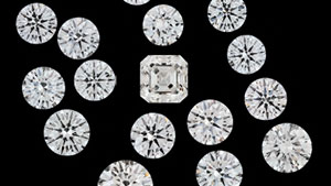 Faceted CVD Synthetic Diamonds