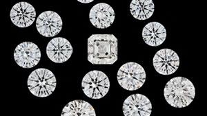 ファセットカットされたCVD合成ダイヤモンド