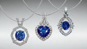 Sapphires from Thammannawa, Kataragama Area, Sri Lanka