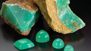 Chrysoprase and Prase Opal from Haneti, Central Tanzania