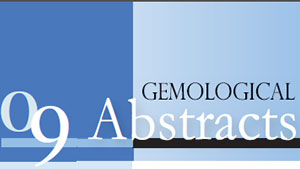 Abstract Header from the 2009 issue of Gems & Gemology
