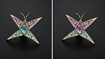 Alexandrite Butterfly Pin