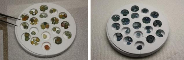 Stones in crucibles