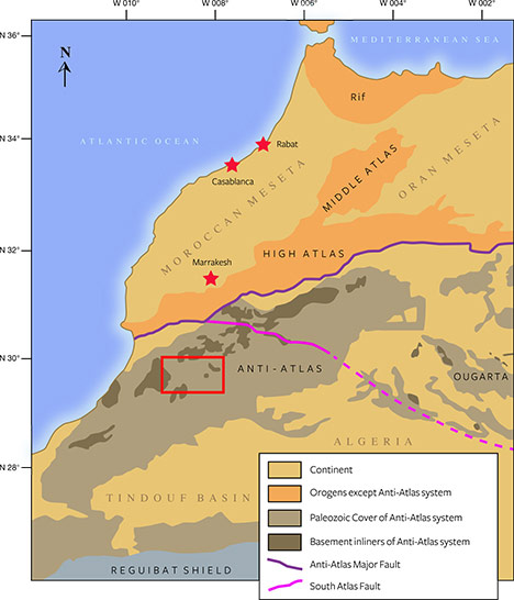 Map of the Boudi quarry