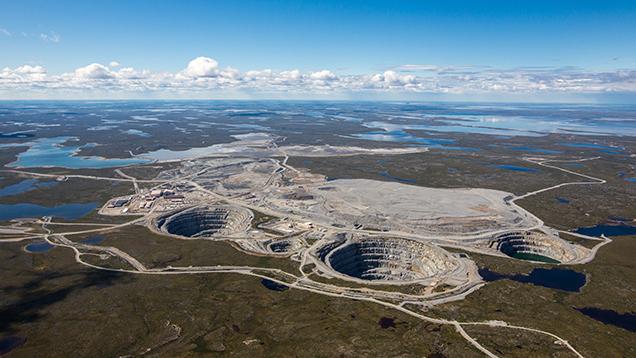 Ekati Mine Aerial View