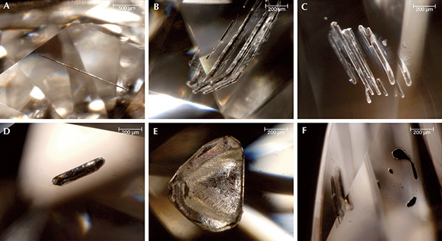 Inclusions observed in HPHT synthetic diamonds