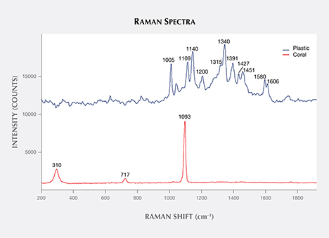 Raman spectra of bead components.