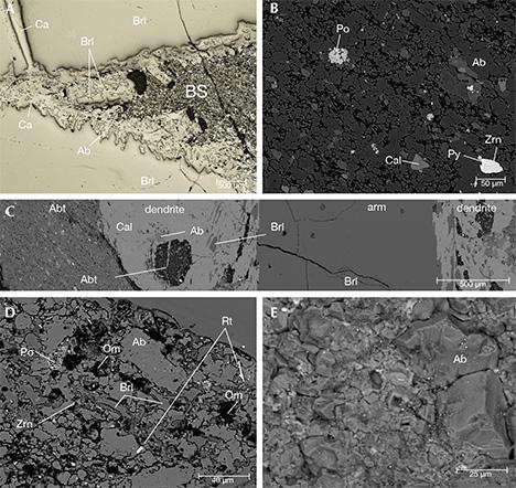 Microscopic images of trapiche emerald