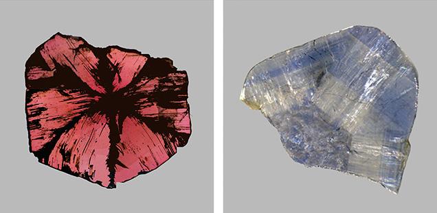 Trapiche ruby and trapiche-like sapphire