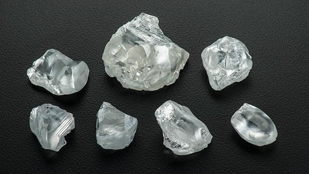 Group of type IIa rough diamonds
