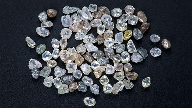 Small rough diamonds