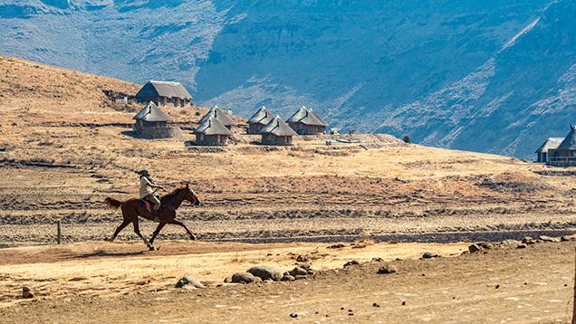 Remote village in Lesotho