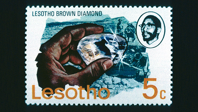 Postage stamp of Lesotho Brown diamond