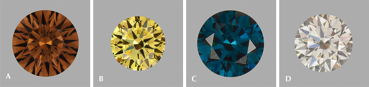 CVD synthetic diamonds in fancy colors besides pink