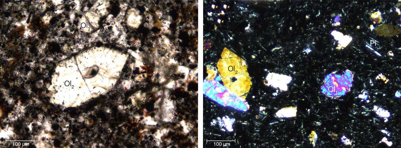 Alkaline basalt from the Bien Ho peridot deposit
