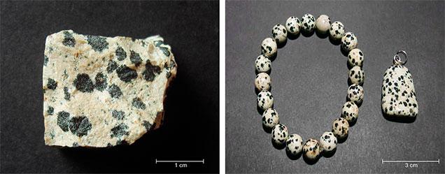 Dalmatian stone samples