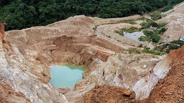Open-pit Sapphire Mine In Balangoda