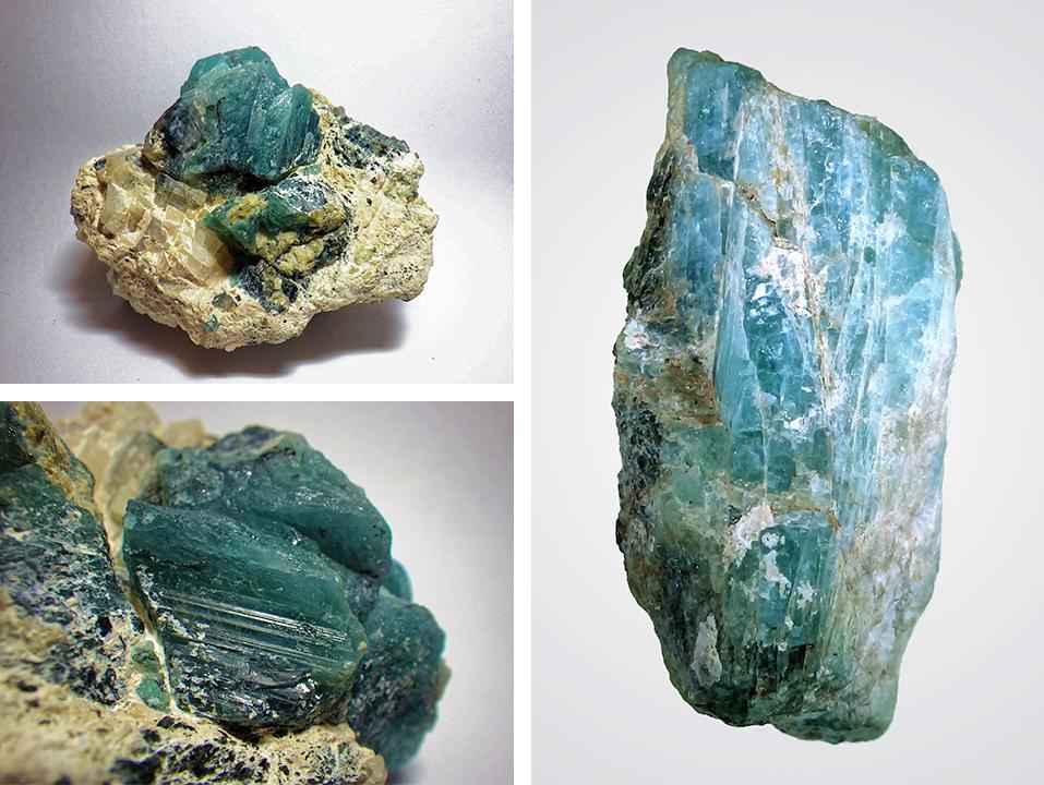 Rough grandidierite crystals found near Tranomaro, Madagascar