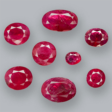 Rubies reportedly from Pokot, Kenya