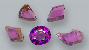 Purple pyrope-almandine garnets from Manica Province, Mozambique