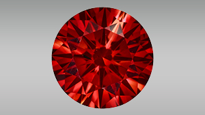 Fancy red and Fancy Vivid yellowish green color-treated synthetic diamonds
