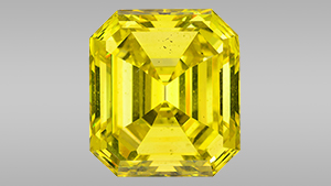 59.88 ct Fancy Vivid yellow irradiated diamond