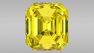59.88 ct Fancy Vivid yellow irradiated diamond