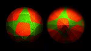FTIR spectrum and DiamondView images of type Ib-IaA diamond