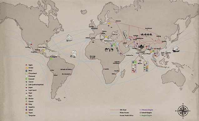 Map of World Trade Routes