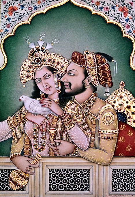 Painting of Shah Jahan and Mumtaz Mahal