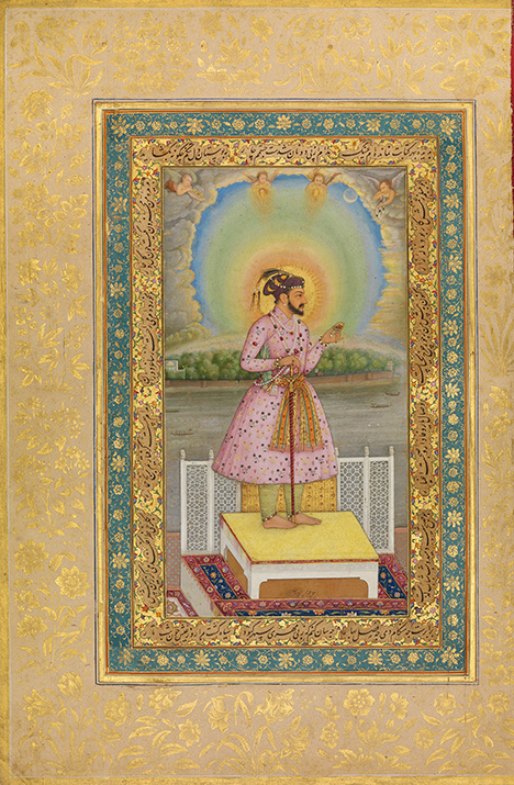 Painting of Shah Jahan, richly adorned with jewels