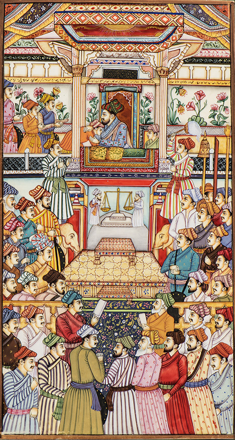 Painting of Shah Jahan in his court