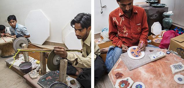 Modern inlay work done near the Taj Mahal