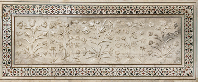 Carved marble panel from the Taj Mahal