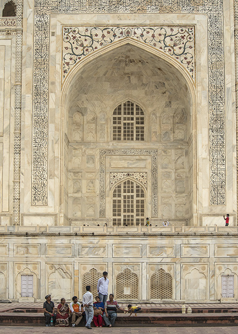 Eastern façade of the Taj Mahal