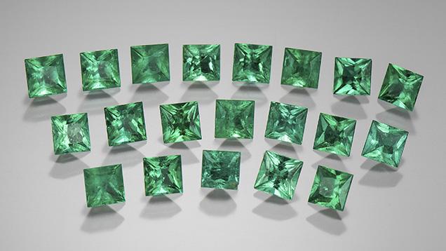 Faceted Afghanistan emerald melee.