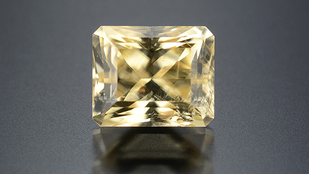 A 1.20 ct faceted vlasovite.