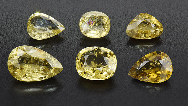 Dravite tourmalines from Mozambique featuring pyrite inclusions.