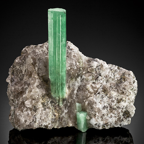 Emerald crystal in matrix from Malipo, China