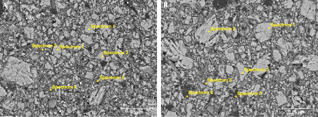 EDS test point of white part of imitation rhodochrosite