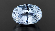 Spodumene with a rare light blue color.