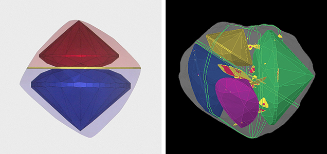 Computer-generated planning for diamond faceting
