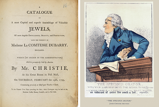 Christie's 1795 auction of Madame du Barry's jewels