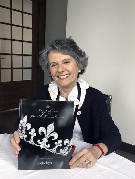 Daniela Mascetti and the <em>Royal Jewels from the Bourbon-Parma Family</em> catalog