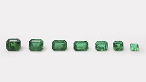 Emeralds from Swat Valley, Pakistan