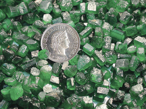 Color saturation of Swat emerald crystals from the Mingora mine